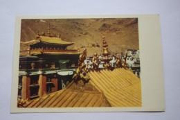Tibet. Samzhubzê District . Jeshilunbu Monastery Golden Roof - Aerial View   - Old Postcard 1950s - Tibet