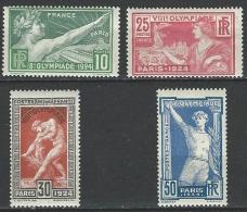 """YT 183 à 184  """" Jeux Olympiques De Paris, 4 TP """" 1924  Neuf ** - France"""