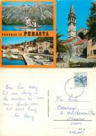 Perast, Montenegro  Postcard Posted 1974 Stamp - Montenegro