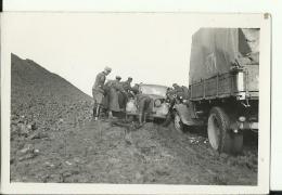A202  --  DEUTSCHLAND  -  WW2  --  ORIGINAL PHOTO   -  RUSSIA,  42 `  SOLDATEN, AUTO  -    9,3  Cm  X 6,2 Cm - 1939-45