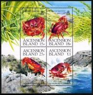 Ascension 1989 Block 18 Crabs  S\sh Mnh **  11.00 € - Crustacés