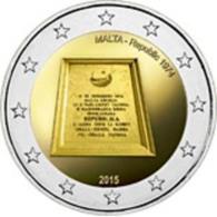 Malta 2 Euro 2015 Proclamation Of The Republic Of Malta In 1974 - UNC Item Number: 381758548 - Malte