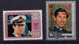 Niue, (Sc #455-46), MNH, (Set Of 2)  Ovpt Prince Henry 15.9.84  (1984) - Niue