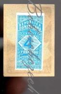 25-099 Dominican Republic Year ???  Republica Dominicana  Rentas Interns - 4 Centavo - Boites D'allumettes - Etiquettes