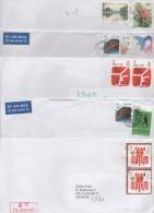China, 5 Letters, Some Air Mailed - 1949 - ... République Populaire