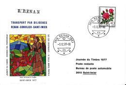 "27932 - Enveloppe ""Journée Du Timbre 1977 - Transport Par Diligence Renan-Sonvilier-St Imier"" - Storia Postale"