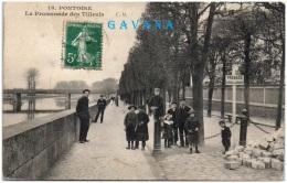95 PONTOISE - La Promenade Des Tilleuls   -  (Reco/Verso) - Pontoise