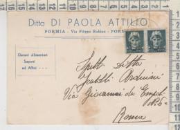 Regno Coppia Turrita Cent. 15 Formia Ditta Di Paola Saponi - Storia Postale
