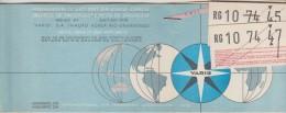 Passenger Ticket And Baggage Check - Varig Brazilian Airlines - 1975 - Oporto»Lisbon»Rio De Janeiro»Lisbon»Oporto - Abonnements Hebdomadaires & Mensuels