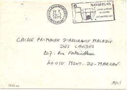 """NAVARRENX (64) - 24/03/1975 - Flamme NAV 102 """"Centre De Pêche Au Saumon """" - Franchise - Marcophilie (Lettres)"""