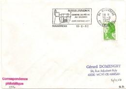 """NAVARRENX (64) - 16/08/1982 - Nouvelle Flamme """"Centre De Pêche Au Saumon"""" Avec Date - Marcophilie (Lettres)"""