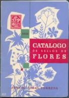 FLEURS FLOWERS FLORES - J.V. TORRENS, Catalogi De Sellos De Flores, Barcelona, 1956, 25 Pages - Etat TB - PDS28 - Temas
