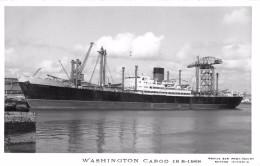 """¤¤  -  Carte-Photo Du Bateau De Commerce """" WASHINGTON """" En 1968  -  Cargo  -  ¤¤ - Koopvaardij"""