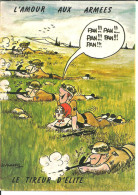"""Cartoncino Umoristico, L´amour Aux Armes, """"Le Tireur D'Elite"""", Illustratore Lassalvy - Lassalvy"""