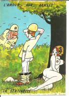 "Cartoncino Umoristico, L´amour Aux Armes, ""La Sentinelle"", Illustratore Lassalvy - Lassalvy"