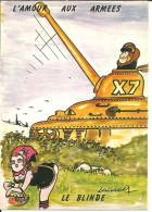 """Cartoncino Umoristico, L´amour Aux Armes, """"Le Blinde"""", Illustratore Lassalvy - Lassalvy"""