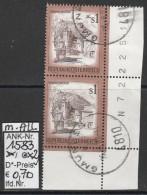 """24.1.1975 - FM/DM """"Schönes Österreich"""" S 1,00 Rotbraun - 2 X O Gestempelt M. Allongen -  Siehe Scan (1583o X2 M.A.) - 1971-80 Usados"""