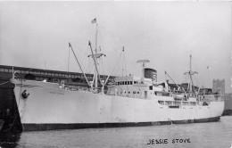 """¤¤  -  Carte-Photo Du Bateau De Commerce """" JESSIE STOVE """"   -  Cargo   -  ¤¤ - Pétroliers"""