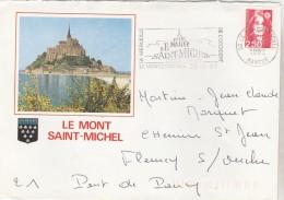 Le Mont St. Michel : Flamme Illustrée Sur Env. Id° ( Pour Thématique ) - Other
