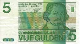 NETHERLANDS 5 GULDEN 1973 P-95 VF+ [ NL095 ] - 5 Gulden