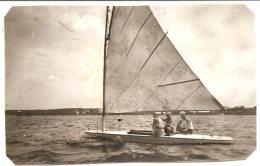 Photo Originale , Yacht , Dim. 8.0 X  5.0 Cm . - Anonyme Personen