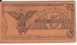 BILLETE DE MEXICO DE 5 CENTAVOS DEL AÑO 1914 TRANSITORIO (BANKNOTE) - Mexique