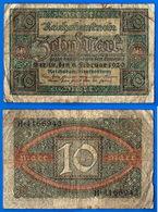 Allemagne 10 Mark 1920 Reichsbanknote Marks Germany Que Prix + Port Marks Paypal Skrill Bitcoin - [ 3] 1918-1933 : Weimar Republic