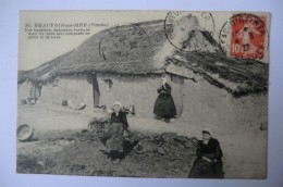 CPA 85 VENDEE BEAUVOIR SUR MER. Une Bourrine. 1922. - Beauvoir Sur Mer
