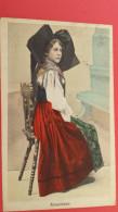 Folklore, ALSACIENNE, 1921, Cachet Facteur - Costumes