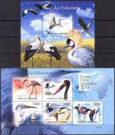 Comoros 2011 Birds Waders Stork Flamingo Sheet Of 5 + S/S MNH** - Vogels