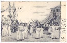 Cpa Fantaisie Char & Chevaux ... Grèce ... ( Adressées à Marcelle De Cessole ) (FA) - Fancy Cards