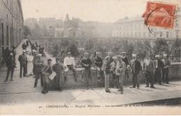 50 - CHERBOURG - Hôpital Maritime - Les Terrasses De La Cour Centrale - Cherbourg