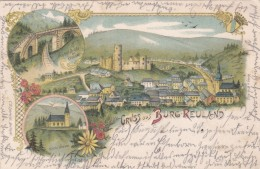 Gruss Aus Burg - Reuland (litho) - Burg-Reuland