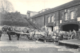 16-COGNAC- MARTELL, J ET F - RECEPTION DES EAUX DE VIE - Cognac