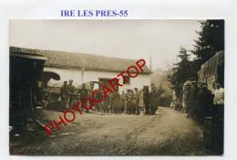 IRE LES PRES-Marechal Ferrant-Prisonniers Russes-Camions-CARTE PHOTO Allemande-Guerre 14-18-1 WK-FRANCE-55- - Altri Comuni