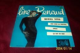 LINE RENAUD °  BUONA SERA  + 3 TITRES - Autographes