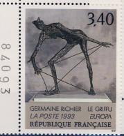 2798 Le GRIFFU  TABLEAU De G RICHIER NEUF** ANNEE 1993 Bord De Feuille Et Numeroté - Francia
