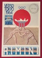 OLIMPIADI RIMNI PER VERSO TOKIO 26/6/64 - 1971-80: Storia Postale