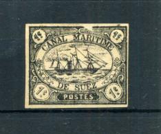 1868 SUEZ N.1 WITHOUT GUM - SEE SCAN - Egitto