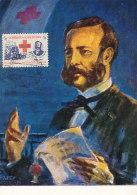 D25299 CARTE MAXIMUM CARD 1966 COLOMBIA - HENRI DUNANT RED CROSS CP ORIGINAL - Henry Dunant