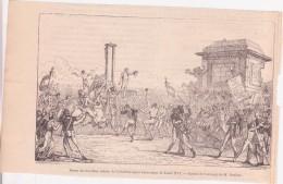 Affiche (gravure) - Danse Des Jacobins Autour De L'échafaud Après L'exécution De Louis XVI - Affiches