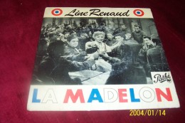 LINE RENAUD ° LA MADELON   + 3 TITRES - Autographes