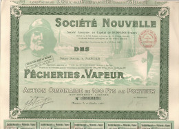 Action Illustrée. Share. Sté Nvle Des Pêcheries à Vapeur.  Nantes 1932 - Navigation