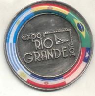EXPO RIO GRANDE AÑO 2012 TIERRA DEL FUEGO MEDALLA DE GRAN FORMATO CENTRO FILATELICO DE BUENOS AIRES - Firma's