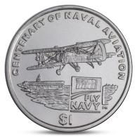 BRITISH VIRGIN ISLANDS 1 DOLLAR NAVAK AVIATION AIRPLANE 2008 UNC - British Virgin Islands
