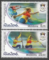 MD 2016- OLY RIO, MOLDAVIA, 1 X 2v, MNH - Moldawien (Moldau)