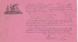 Connaissement Gelgon Pleubian Côtes D'Armor  Navire MARIE De Reykjavik Islande Pour La Rochelle 5/5/1903 - Morues - Documentos Históricos