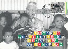 D25311 CARTE MAXIMUM CARD FD 2003 NETHERLANDS - NELSON MANDELA NOBEL PRIZE CP ORIGINAL - Nobel Prize Laureates