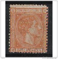 ES165STV-LFT***165S.España.Spain. Espagne.REY ALFONSO Xll .1875.(Ed 175**)  Sin  Charnela - 1875-1882 Reino: Alfonso XII