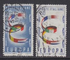 Europa Cept 1957 Italy 2v Used (31999C) - 1957